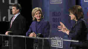 Texas GOP gubernatorial candidates Gov. Rick Perry, Sen. Kay Bailey Hutchison and Debra Medina.