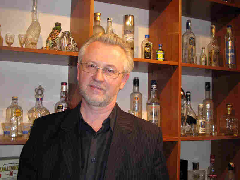 Nikolai Kamaletdinov, a guide at the museum attached to the Cristall vodka distillery in Moscow.