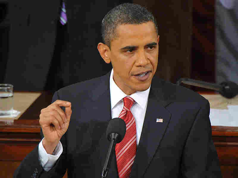 President Obama at his first State of the Union address