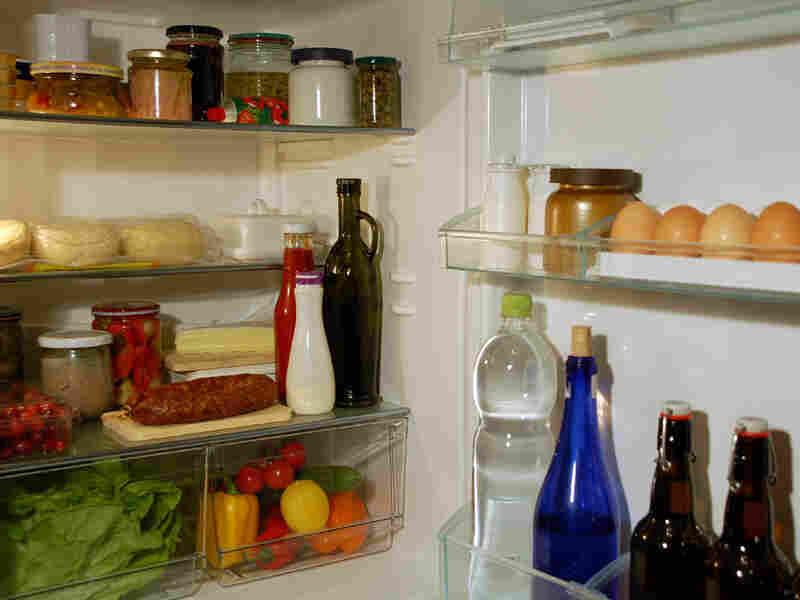 Inside of a refrigerator