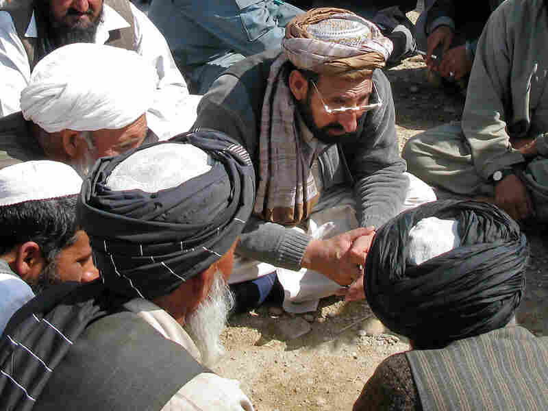 New Marjah governor Haji Zahir listens to residents' problems, Feb. 22