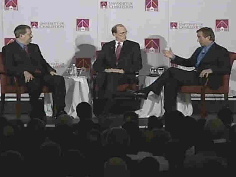 Coal company CEO Don Blankenship and environmentalist Robert Kennedy, Jr. debate