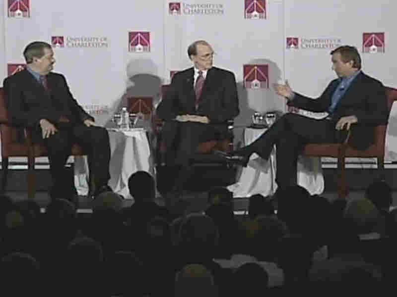 Coal company CEO Don Blankenship and environmentalist Robert Kennedy, Jr. debate