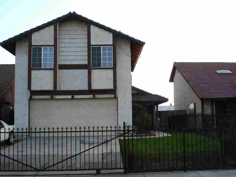 Brenda Moore's two-story home on Dana Lane in Moreno Valley, Calif.
