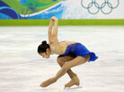 Kim Yu-na of South Korea competes in the women's free skate.