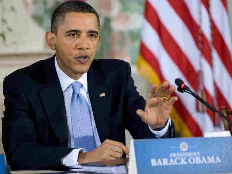 Obama speaks at health care overhaul summit.