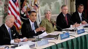 President Obama, HHS Secretary Kathleen Sibelius, Sen. Mitch McConnell, Rep. John Boehner