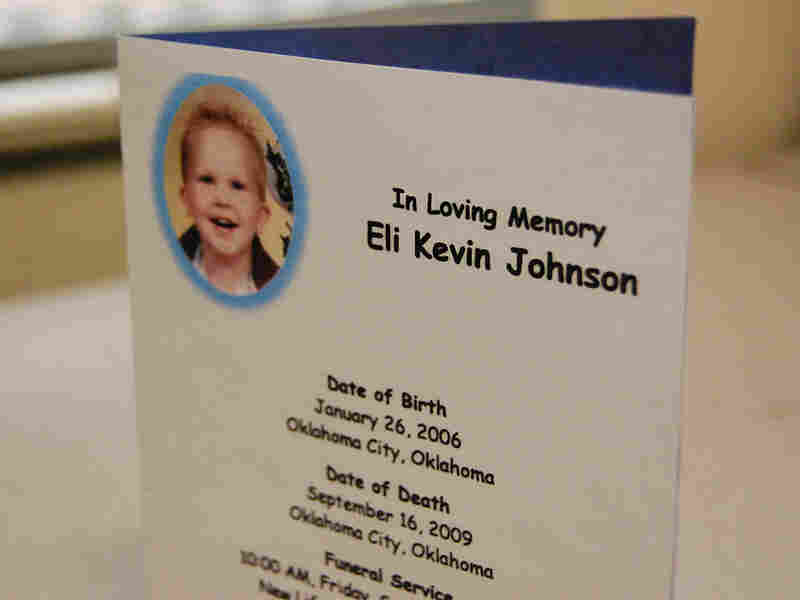 Eli Johnson's great-grandmother saved his funeral card.