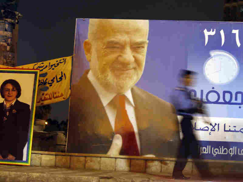 Campaign posters in Baghdad