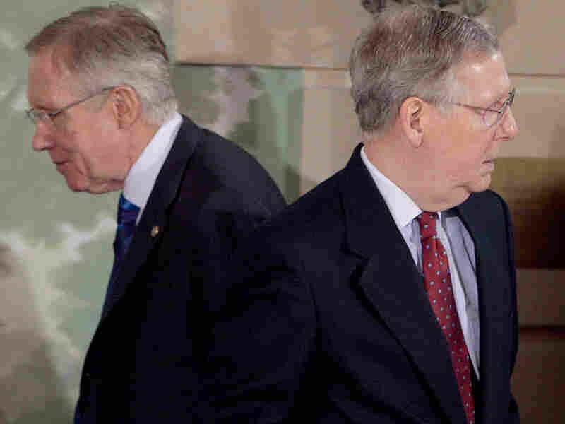 Senate Majority Leader Harry Reid and Senate Minority Leader Mitch McConnell