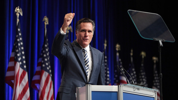 Former Mass. Gov. Mitt Romney speaks to attendees of the 37th Annual Conservative Political Action Conference on Feb. 18, 2010, in Washington, D.C. (Getty Images)
