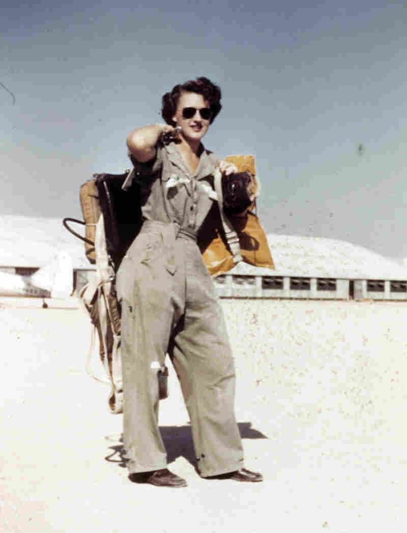 Lillian Yonally at Avenger Field in Sweetwater, Tex