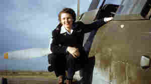 Lillian Yonally on the wing of a Douglas Dauntless during her service as a WASP.