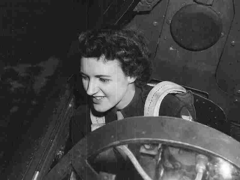 Lillian Yonally in a plane