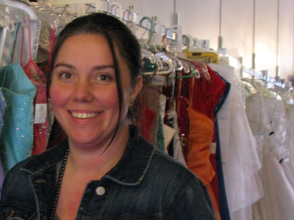 Heather Bledsoe, who owns a store that sells flowers and consignment dresses, couldn't get a loan to buy her building.