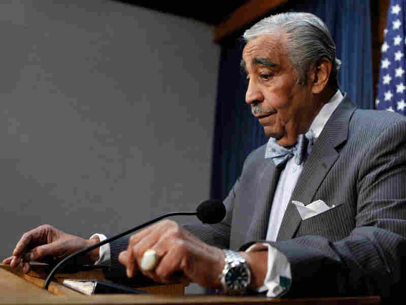 Rep. Charles Rangel says he's stepping down as House Way and Means chairman temporarily.