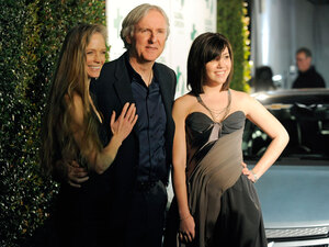 James Cameron, Suzy Amis Cameron and  Jillian Granz. Chris Pizzello/AP