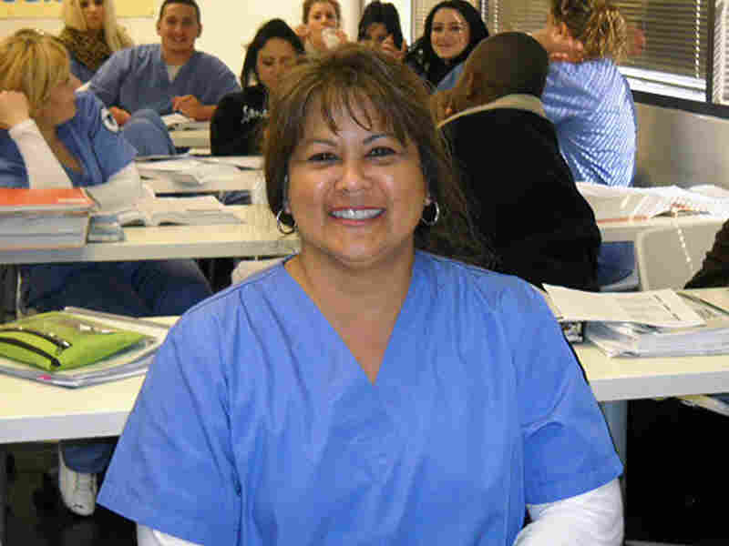 Nursing student Barbara Bosch at CBD vocational college.