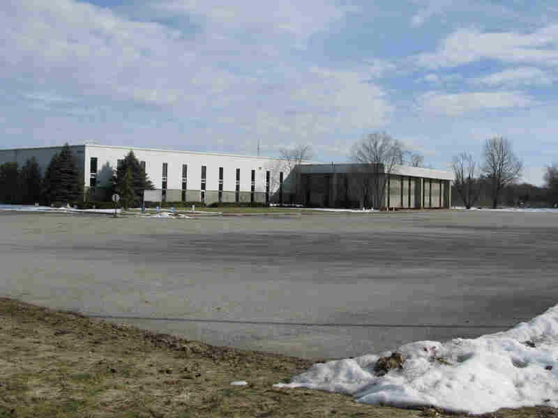 The exterior of the empty Phillips Industries plant that is out of business.