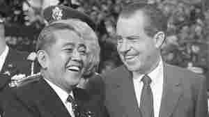 Richard Nixon and Eisaku Sato