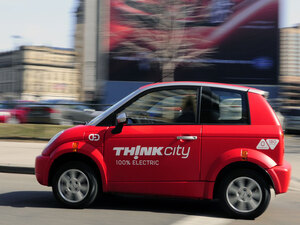 The Norwegian electric vehicle manufactuer Think will locate in Elkhart.