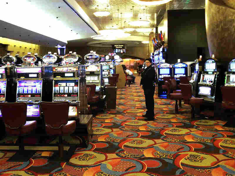 One of the slot machine rooms at Foxwoods Resort Casino in  in Mashantucket, Conn.
