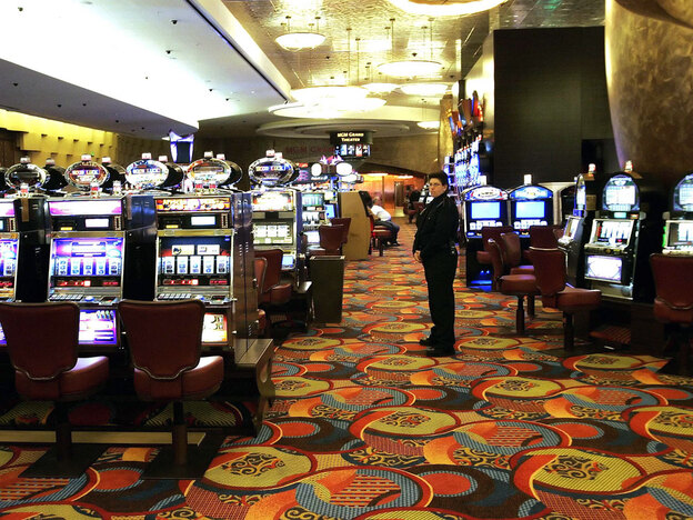 One of the slot machine rooms at the MGM Grand Hotel, which is part of the Foxwoods Resort Casino in  in Mashantucket, Conn. Foxwoods is one of the few casinos to recognize union contracts. (AP)