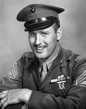 A portrait of Norman Hatch taken during World War II.