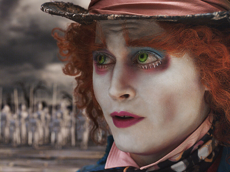 e3432402158 Enlarge this image. Johnny Depp plays the Mad Hatter ...