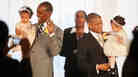 Rocky Galloway (left) and Reginald Stanley get married in Washington, D.C. Jacquelyn Martin/AP