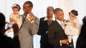 Rocky Galloway (left) and Reginald Stanley get married in Washington, D.C. Jacquelyn Ma