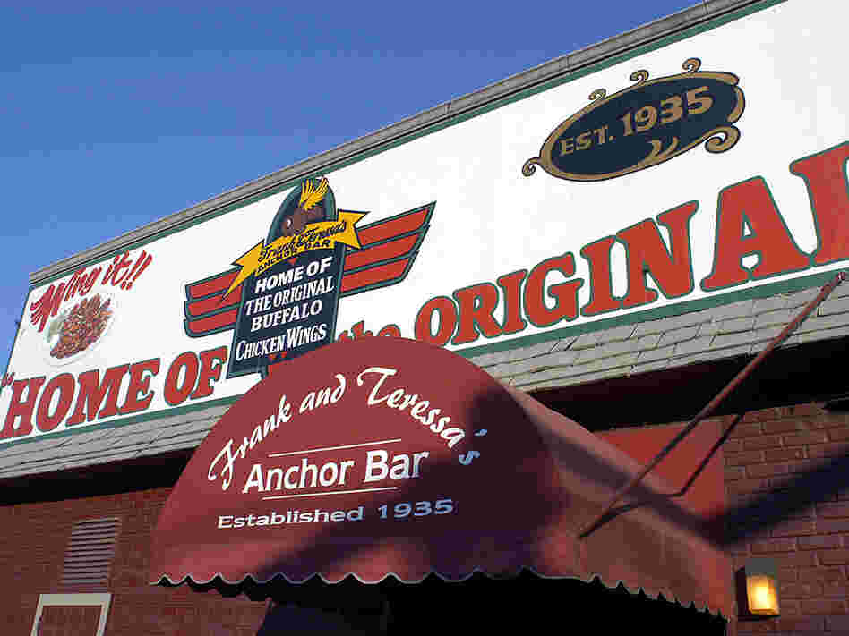 The Anchor Bar in Buffalo, N.Y., famed home of the hot wing.