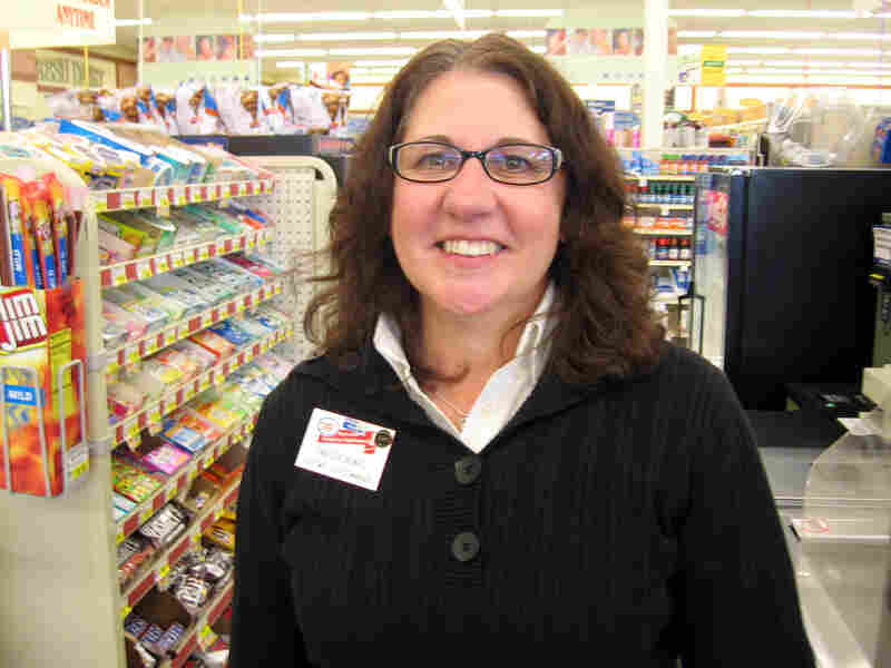 Tina Stachowicz, the customer service manager at the Family Fare grocery in Bryon Center, Mich.