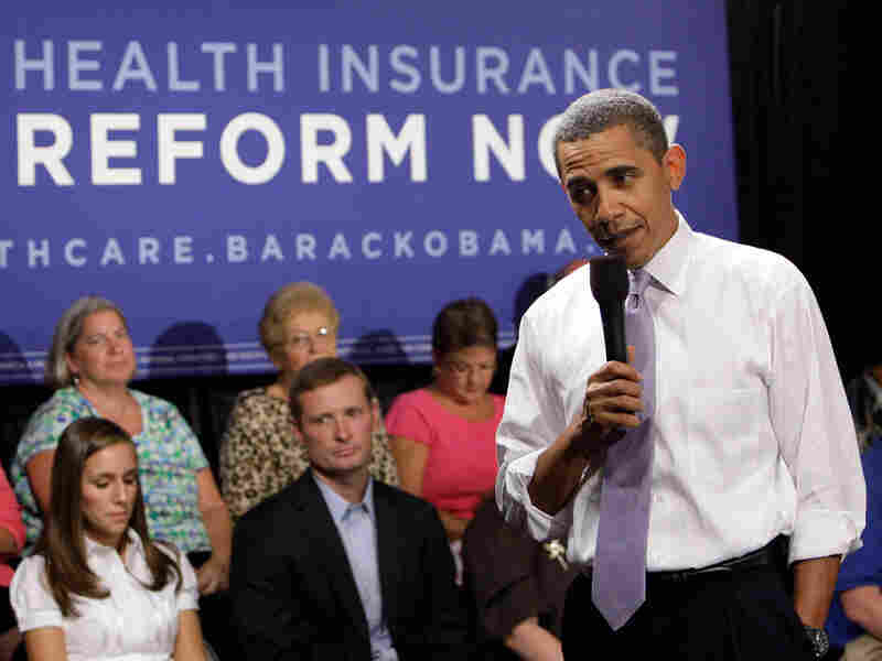 President Obama speaks during the Organizing for America National Health Care Forum in 2009.