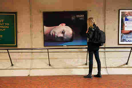 A billboard in D.C.'s metro