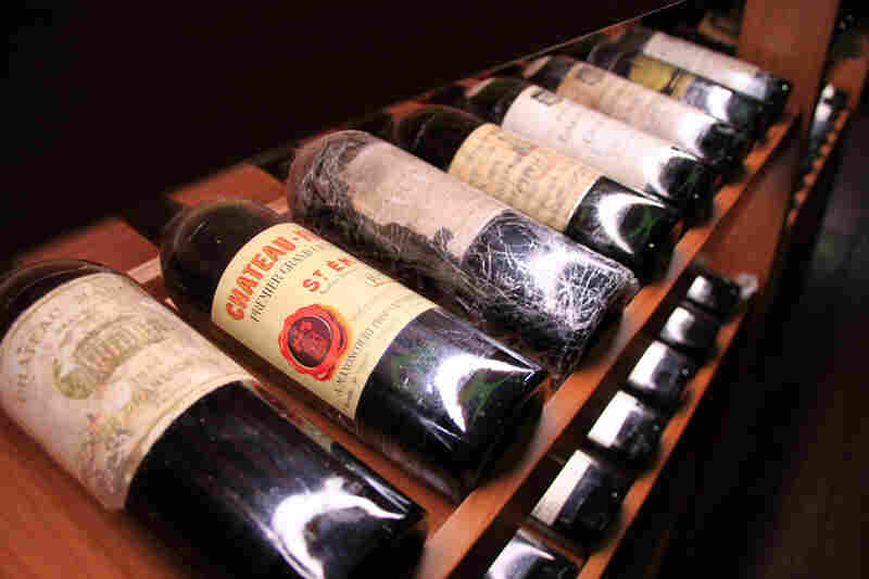 Chen's wine cellar includes expensive bottles of Chateau Margaux from 1934