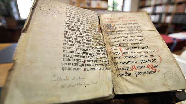 Pages of the Gutenberg Bible.