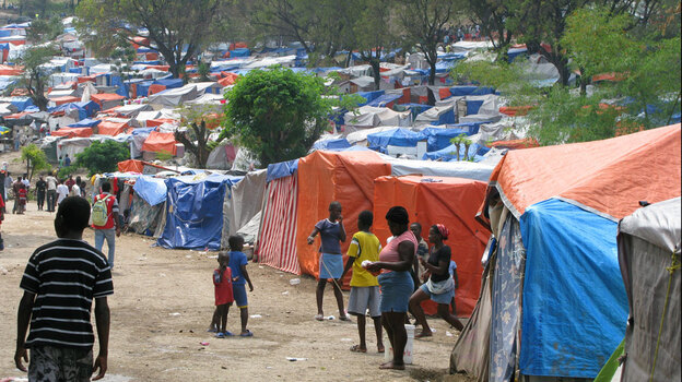 Tent camp at Petionville Golf Club in Port-au-Prince