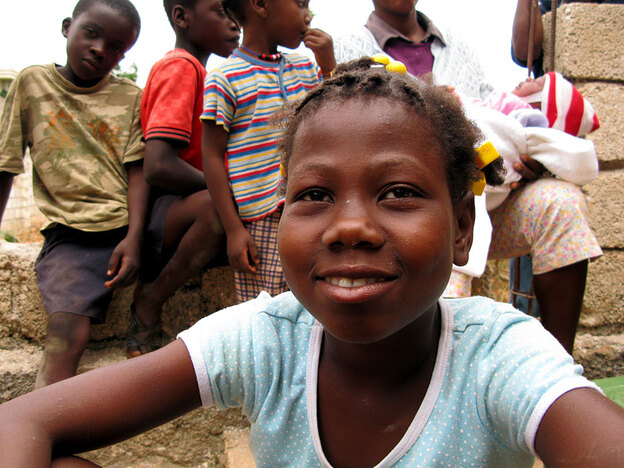 Berlyne Chery, 13, after being returned to her village of Calebasse, Haiti.  She was one of the 33 children taken by a group of U.S. missionaries after the earthquake in January. The missionaries claimed the children were orphans, but they all have living parents.