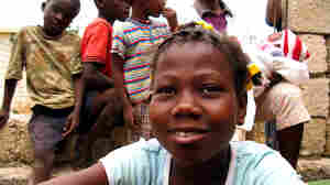 Berlyne Chery, 13, after being returned to her village