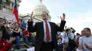 Republican Rep. Jack Kingston of Georgia on the Capitol steps. Lauren Victoria Burke