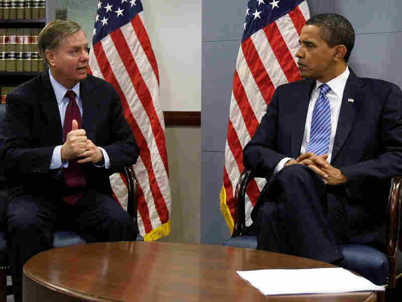 Sen. Lindsey Graham and then-President-elect Obama in Jan. 2009
