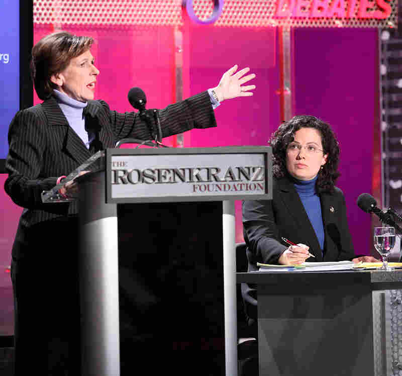 Randi Weingarten, president of the American Federation of Teachers, AFL-CIO, debates.