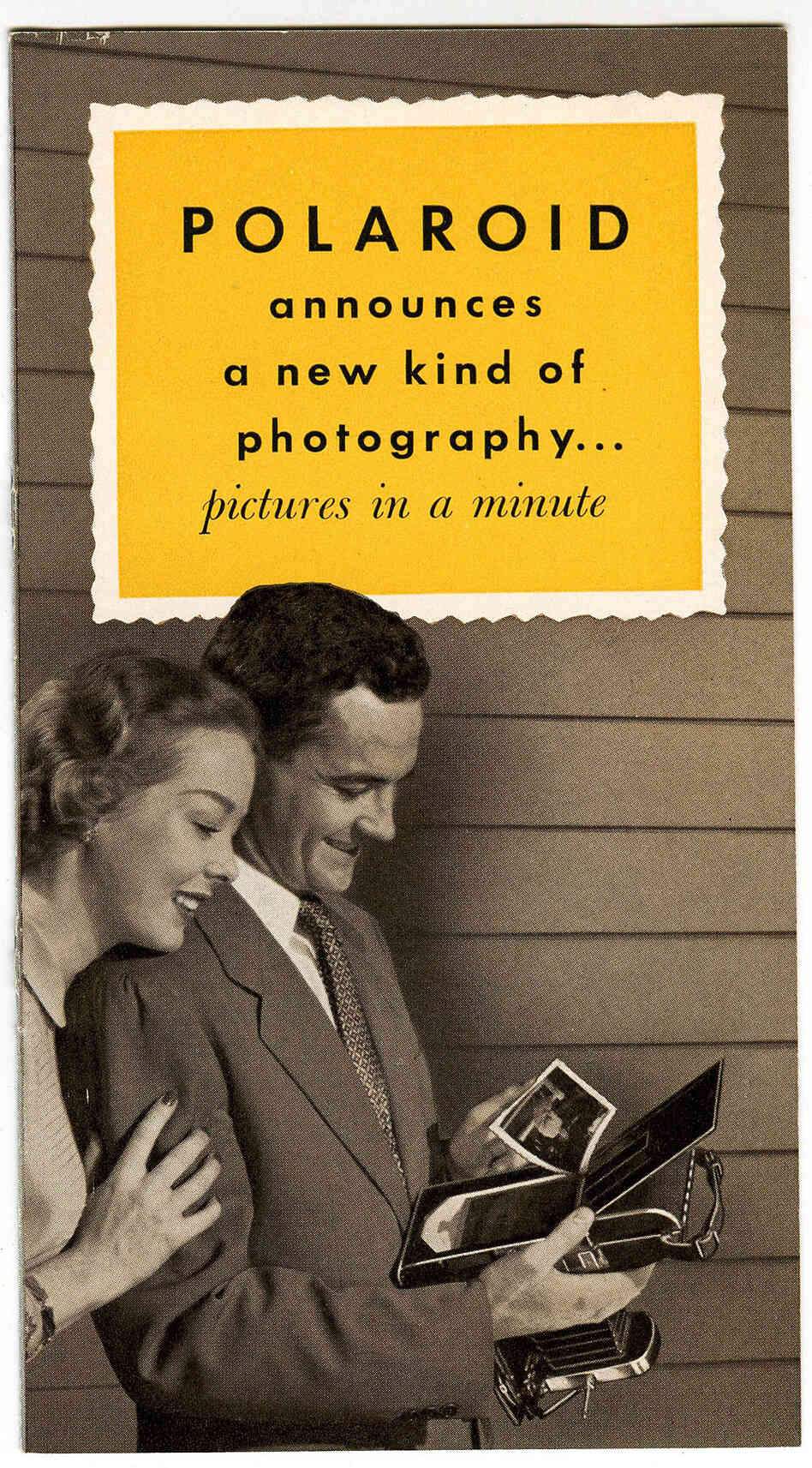 Polaroid's creator Edwin Land debuted his first instant camera in 1948.