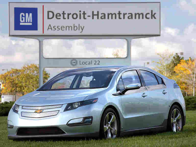 A new Chevrolet Volt electric car at the Detroit-Hamtramck assembly plant in Detroit, Mich.