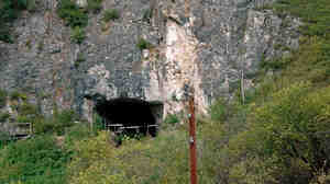 Denisova cave from the outside