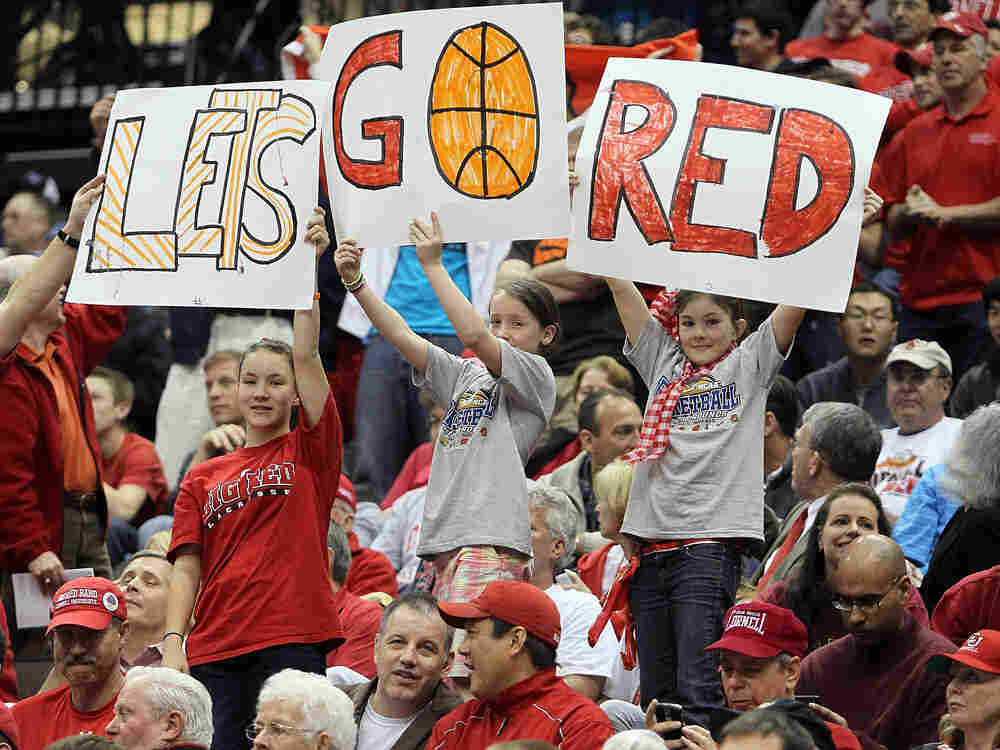 Cornell fans were out in force as the Big Red knocked off Wisconsin.