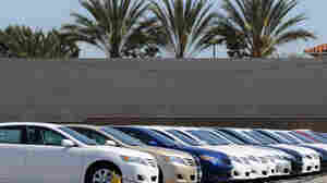 Cars for sale at a Toyota dealership in Torrance, Calif.