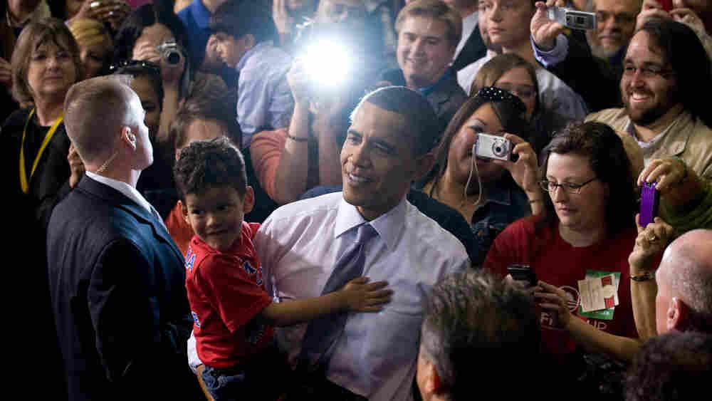 Obama at the University of Iowa Field House in Iowa City, Iowa. Saul Loeb/AFP/Getty Images