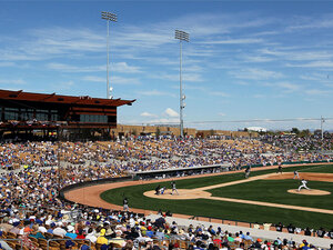 A spring training game between the Chicago White Sox